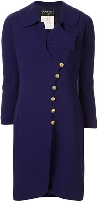 Chanel Pre Owned Off-Centre Buttoned Coat