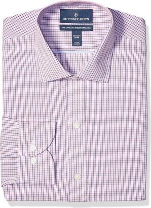 Buttoned Down Amazon Brand Men's Xtra-Slim Fit Pattern Non-Iron Dress Shirt