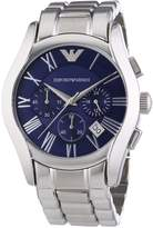 Emporio Armani Men's Classic AR1635 Silver Stainless-Steel Analog Quartz Watch with Dial