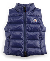 Moncler Ghany Quilted Vest, Blue, Sizes 2-6