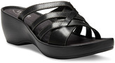 Eastland Women's Sandals BLACK - Black Poppy Leather Heeled Sandal - Women