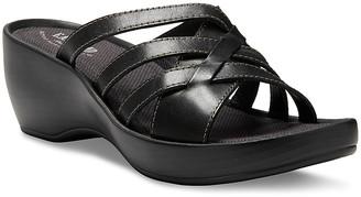 Eastland Women's Sandals BLACK - Black Poppy Leather Heeled Sandal - Women