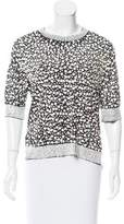 By Malene Birger Sequined Metallic Top