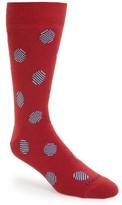 Lorenzo Uomo Men's Striped Dots Socks