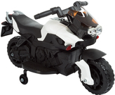 Black Training Wheels Motorcycle Ride-On