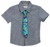 Sovereign Code Boys' Chambray Shirt & Printed Tie - Big Kid