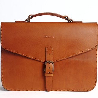 The Dust Company Mod 122 Briefcase in Cuoio Brown