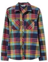L.L. Bean Signature Women's Madras Shirt, Long-Sleeve