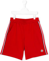 Moncler side stripes shorts - kids - Cotton - 14 yrs