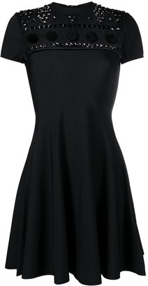 Valentino Polka Dot Embroidery Knitted Dress