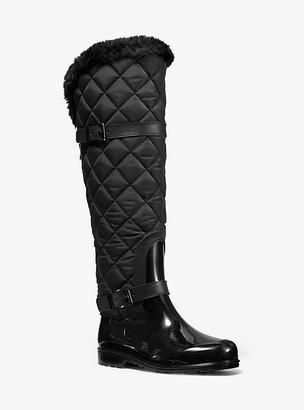 Michael Kors Fulton Quilted Nylon And Pvc Rain Boot