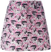 Giamba lips print short skirt