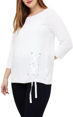Studio 8 Milla Knit Lace Up Jumper, White
