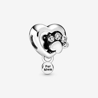 Pandora Sparkling Paw Print & Heart Charm