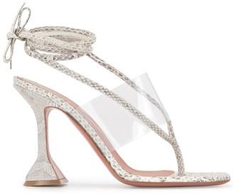 Amina Muaddi Transparent Strap Sandals