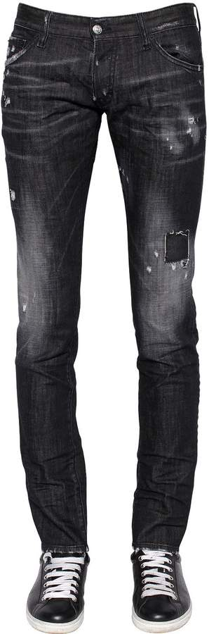 DSQUARED2 16.5cm Long Clement Stretch Denim Jeans