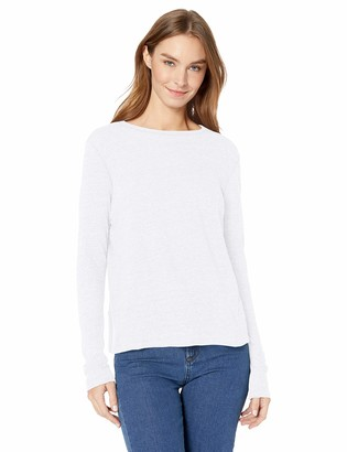 Enza Costa Women's Vintage Cropped Long Sleeve Crew Neck T-Shirt