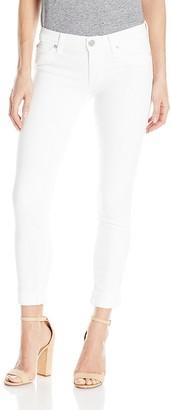 Hudson Women's Tally Crop Skinny White Jeans 31