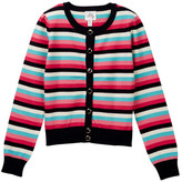 Milly Minis Stripe Cardigan (Big Girls)
