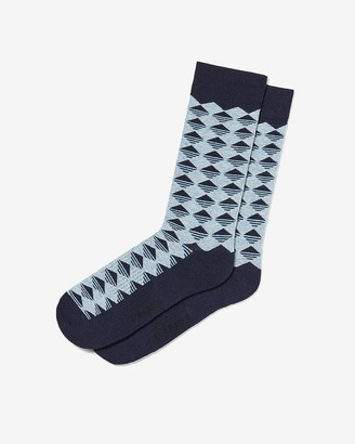 Express Triangle Print Dress Socks