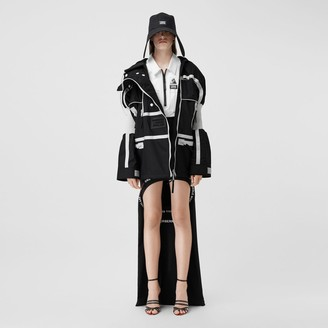Burberry Two-tone Nylon Reconstructed Track Jacket