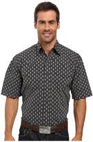 Stetson Paisley Dot Short Sleeve Woven Snap Shirt