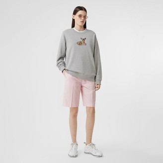 Burberry Deer otif Cotton Oversized Sweatshirt