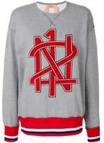 N°21 Women's Grey/red Cotton Sweatshirt.