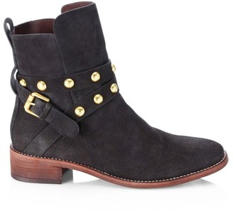 See by Chloe Janis Studded Suede Ankle Boots
