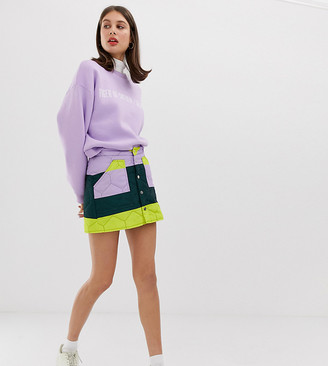 Tiger of Sweden Exclusive quilted colourblock skirt-Multi