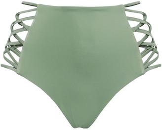 Tori Praver Swimwear Cutout High-rise Bikini Briefs