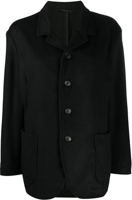 Casey Casey Single-Breasted Fitted Jacket