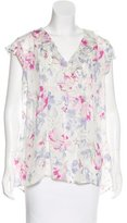 Joie Floral Print Silk Top