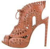 Alaia Python Lace-Up Sandals w/ Tags