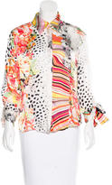 Just Cavalli Silk Printed Blouse
