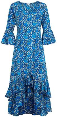 AtLAST Victoria Dress Royal Blue Swirl