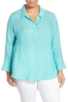 Nic+Zoe Breezy Linen Tunic Shirt (Plus Size)