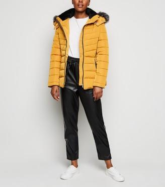 New Look Faux Fur Trim Hooded Puffer Jacket