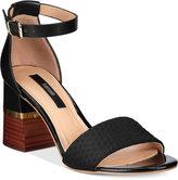 Kensie Estan Block-Heel Sandals Women's Shoes