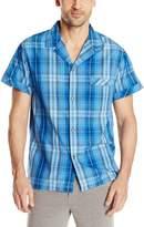 Intimo Men's Yarn Dye 0374 Plaid Woven Sleep Top