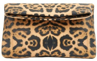 Dries Van Noten Leopard printed clutch