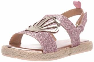 Osh Kosh Baby-Girl's Oceana Glittery Espadrille Sandal Wedge