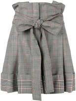 Alexander McQueen high-waisted check shorts