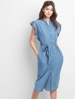 Gap TENCEL midi shirtdress