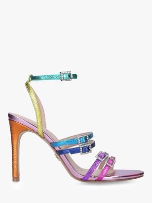 Kurt Geiger Pierra Rainbow Stiletto Heel Strappy Sandals, Multi