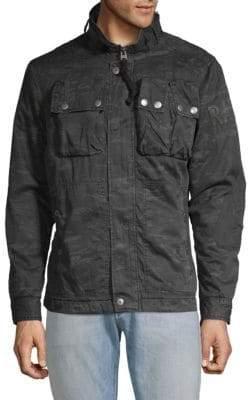 G Star Printed Full-Zip Cotton Jacket