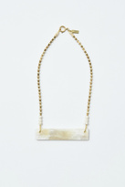 Ink + Alloy White Horn Crossbar Necklace