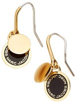 Marc by Marc Jacobs Women's Marc Jacobs Enamel Logo Disc Drop Earrings