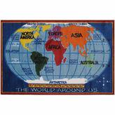 Asstd National Brand Kids World Map Supreme Rectangular Rugs