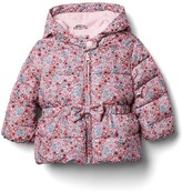 Gap Warmest bow peplum puffer